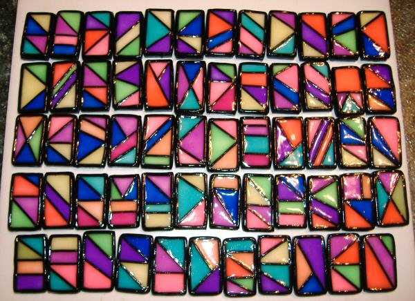 Pcc Stained Gl Tile Beads